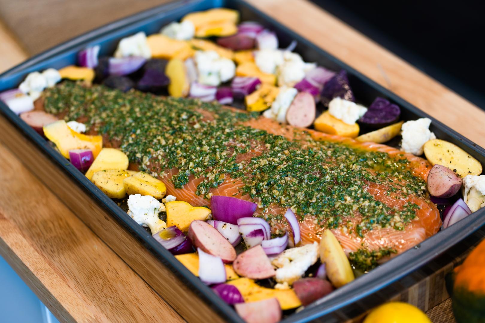 sheet pan salmon - simple seafood recipes