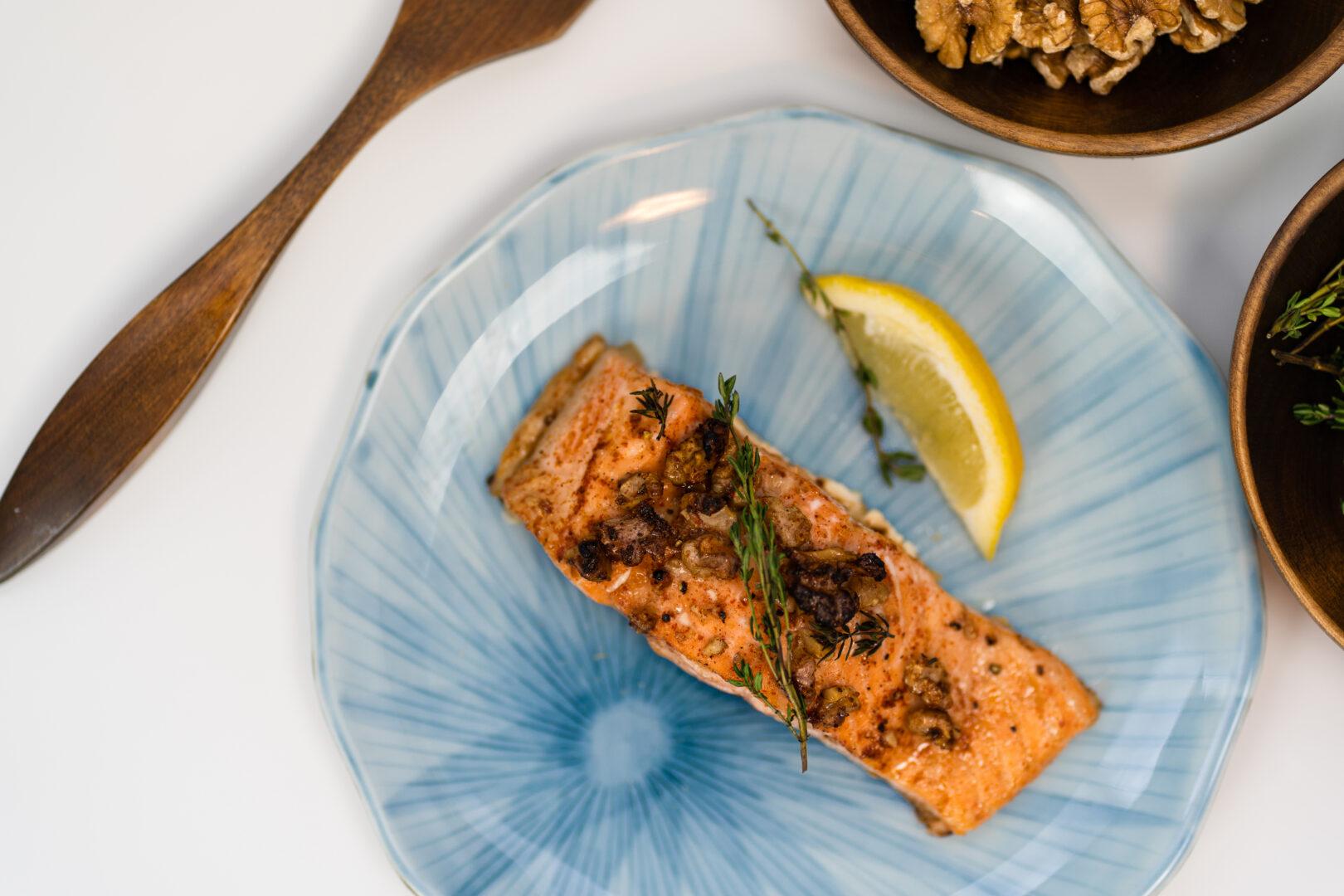 Maple Walnut Salmon with Bluehouse Salmon