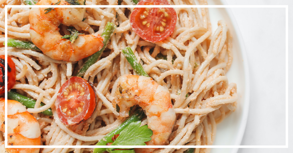 Start Fresh with this vegetable-filled shrimp pasta dish.