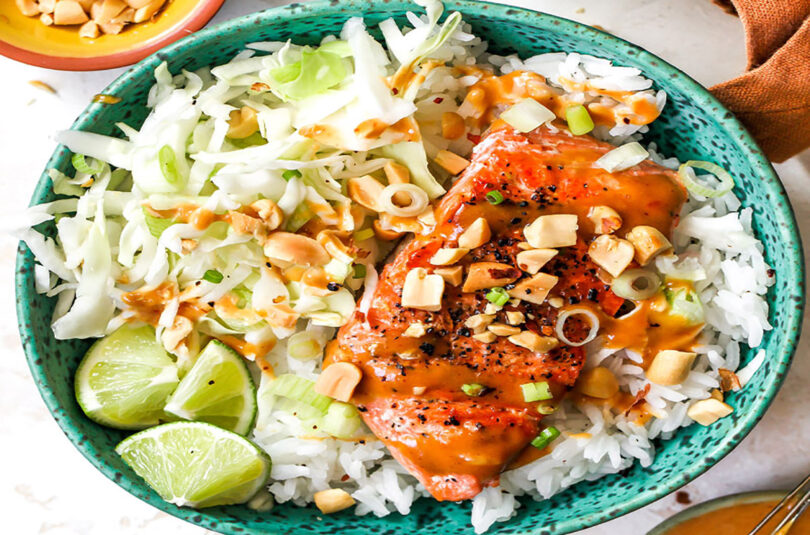 Firecracker Salmon Bowls