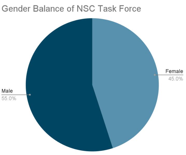 Gender Balance of NSC Task Force